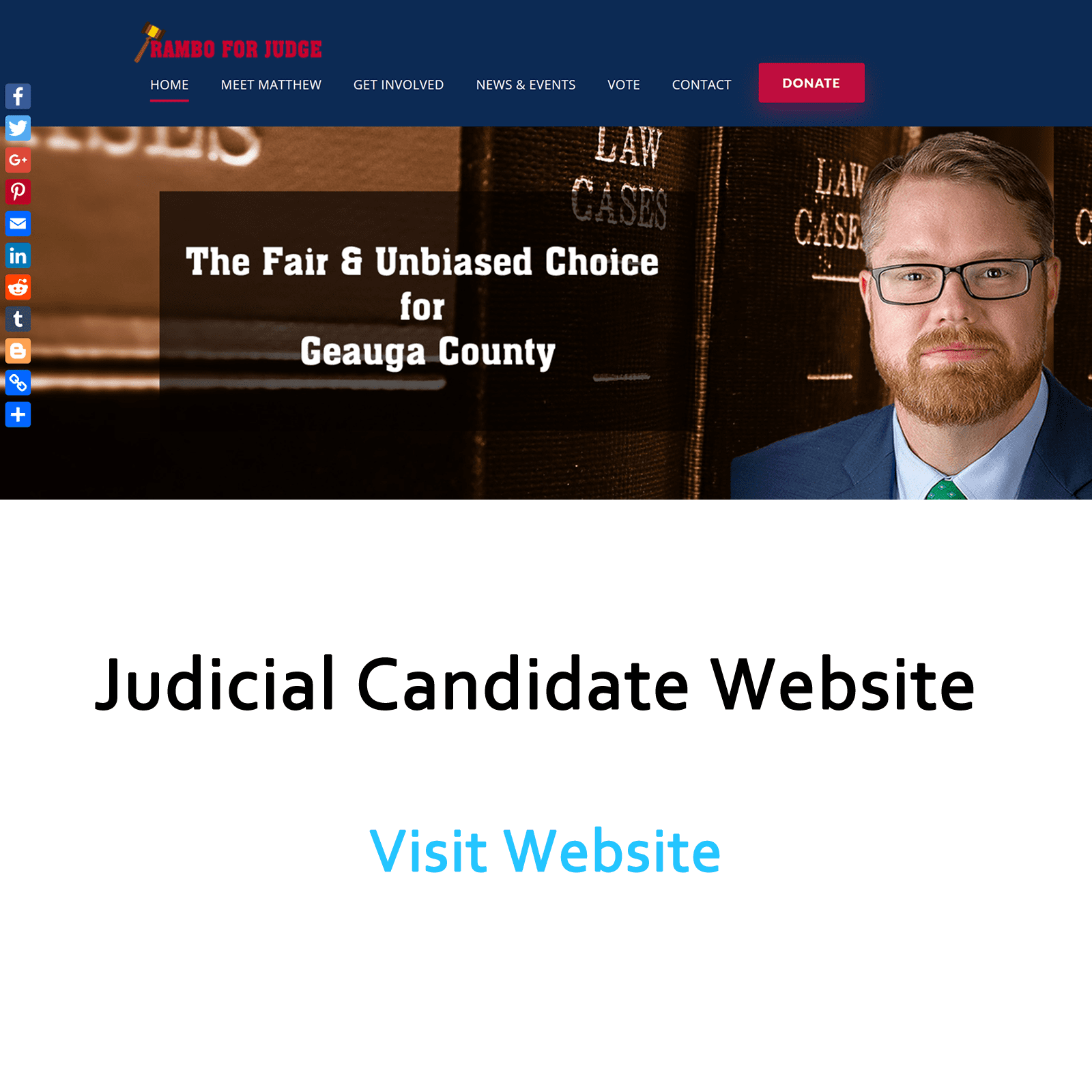 Image of Judicial Candidate Rambo website