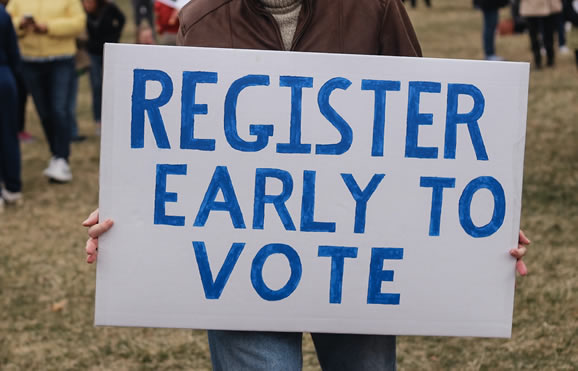 Image of Register early to vote